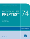 The Official LSAT Preptest 74 Book