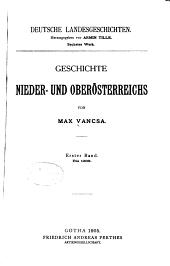Geschichte Nieder- und Oberösterreichs: Band 1