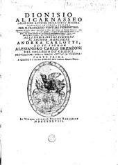 Dionisio Alicarnasseo Delle cose antiche della citta di Roma: Volume 1