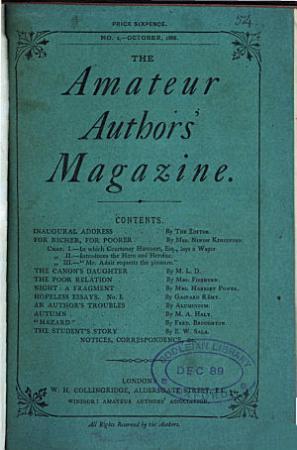 The Amateur authors  magazine PDF