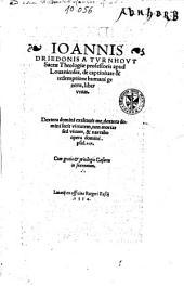 De captivitate & redemptione humani generis, liber unus, ...