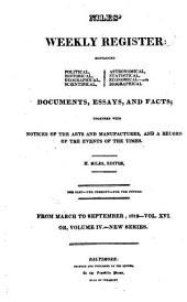 Niles' Weekly Register: Volume 16