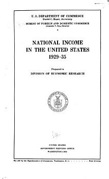 The National Income and Product Accounts of the United States PDF