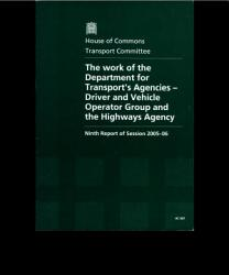 The Work of the Department for Transport s Agencies   Driver and Vehicle Operator Group and the Highways Agency PDF