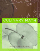 Culinary Math 3rd Edition with Culinary Artistry Set Book