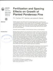 Fertilization and spacing effects on growth of planted ponderosa pine