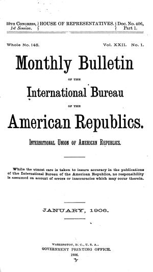 Bolet  n Mensual de la Oficina de Las Rep  blicas Americanas  Inion Internacional de Rep  blicas Americanas PDF