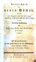 Verzeichni   der neuen B  cher  welche in der letzten Frankfurter und Leipziger     herausgekommen und nebst vielen andern um beygesetzte Prei  e zu haben sind bey Johann Jacob Palm  Universit  ts Buchh  ndler PDF