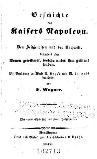 Geschichte des Kaisers Napoleon PDF