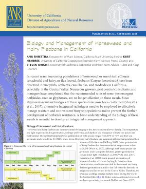 Biology and Management of Horseweed and Hairy Fleabane in California