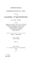 Speeches  Correspondence  Etc   of the Late Daniel S  Dickinson of New York PDF