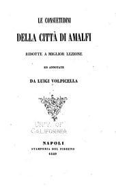 Le consuetudini della città di Amalfi