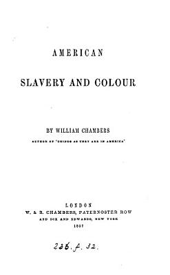 American Slavery and Colour