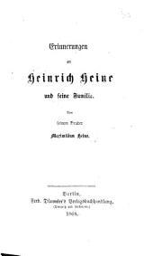 Erinnerungen an Heinrich Heine und seine Familie