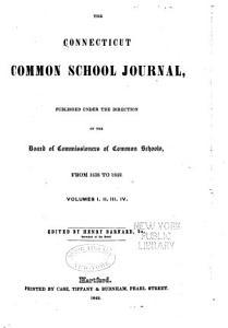 Connecticut Common School Journal PDF