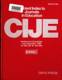 Current Index to Journals in Education Semi Annual Cumulations  1986 PDF