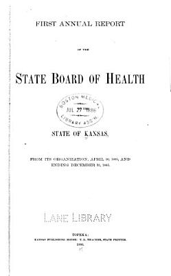 Biennial report of the Kansas State Board of Health  1885 PDF