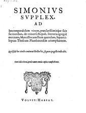 Simonius supplex ad Marcellocamillum Squarcilupum (etc.)