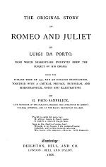 The Original Story of Romeo and Juliet