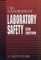 CRC Handbook of Laboratory Safety  5th Edition PDF