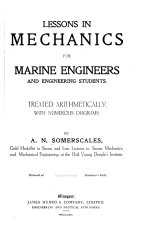 Lessons in Mechanics for Marine Engineers and Engineering Students PDF