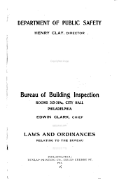 Laws and Ordinances Relating to the Bureau