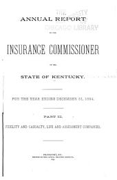 Annual Report of the Insurance Commissioner: Volume 27, Part 1