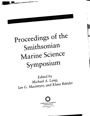 Smithsonian Contributions to the Marine Sciences