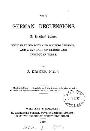 The German declensions PDF