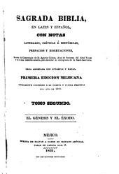 Sagrada Biblia: en latin y español, con notas literales, críticas é históricas, prefacios y disertaciones, sacadas, Volumen 2