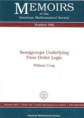 Semigroups Underlying First-Order Logic