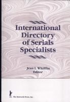 International Directory of Serials Specialists PDF