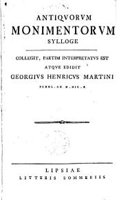 Antiquorum monimentorum sylloge: Volumes 1-2