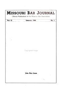 Missouri Bar Journal