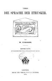 Ueber die Sprache der Etrusker: Band 1