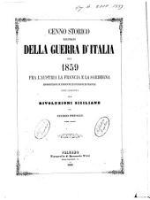 Cenno Storico Illustrato della Guerra D'Italia del 1859