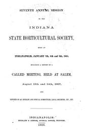 Annual Session of the Indiana State Horticultural Society: Volume 7