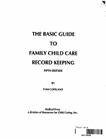 The Basic Guide to Family Child Care Record Keeping PDF