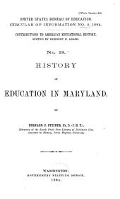 Contributions to American Educational History: Issue 19