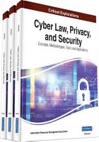 Cyber Law  Privacy  and Security  Concepts  Methodologies  Tools  and Applications PDF