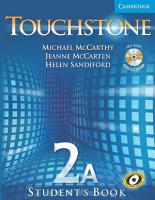 Touchstone Level 2A Student s Book A with Audio CD CD ROM PDF
