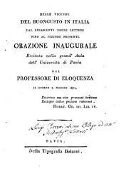 Delle vicende del buongusto in Italico dal rinascervi delle lettere fino al periodo presente