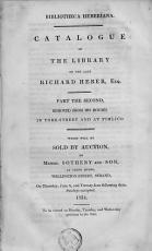Catalogue of the Library of the Late Richard Heber  Esq   Part the Second  Removed from His Houses in York Street and at Pimlico PDF