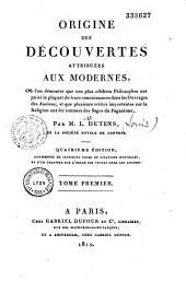 Origine des découvertes attribuées aux modernes