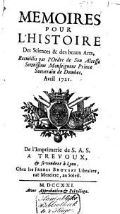 Mémoires pour l'histoire des sciences et des beaux arts: Volume79