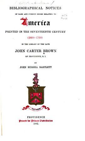 Bibliotheca Americana  1600 to 1700  1882 PDF