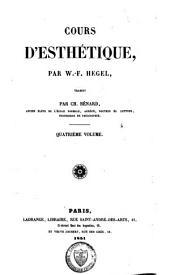 Cours d'esthétique: Volume4