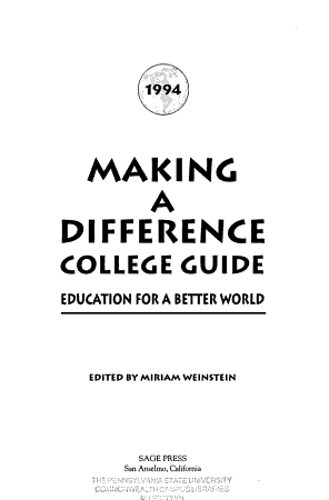 1994 Making a Difference College Guide PDF