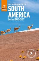 The Rough Guide to South America On a Budget  Travel Guide eBook  PDF