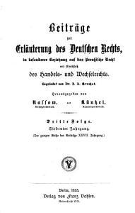 Beitr  ge zur erl  uterung des deutschen rechts PDF